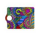Pop Art Paisley Flowers Ornaments Multicolored Kindle Fire HD (2013) Flip 360 Case