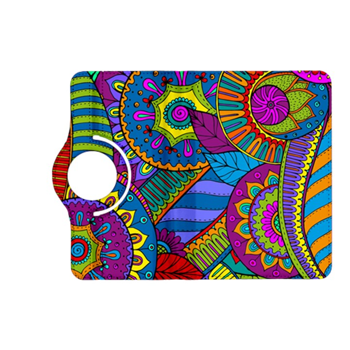 Pop Art Paisley Flowers Ornaments Multicolored Kindle Fire HD (2013) Flip 360 Case