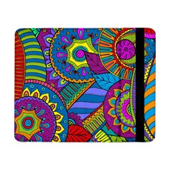 Pop Art Paisley Flowers Ornaments Multicolored Samsung Galaxy Tab Pro 8 4  Flip Case
