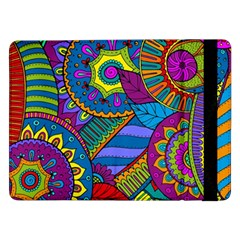 Pop Art Paisley Flowers Ornaments Multicolored Samsung Galaxy Tab Pro 12.2  Flip Case