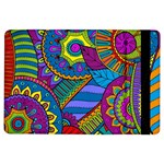 Pop Art Paisley Flowers Ornaments Multicolored iPad Air Flip