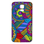 Pop Art Paisley Flowers Ornaments Multicolored Samsung Galaxy S5 Back Case (White)