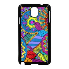 Pop Art Paisley Flowers Ornaments Multicolored Samsung Galaxy Note 3 Neo Hardshell Case (black)