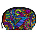 Pop Art Paisley Flowers Ornaments Multicolored Accessory Pouches (Large)