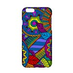 Pop Art Paisley Flowers Ornaments Multicolored Apple iPhone 6/6S Hardshell Case