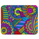 Pop Art Paisley Flowers Ornaments Multicolored Double Sided Flano Blanket (Medium)  60 x50 Blanket Back