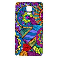Pop Art Paisley Flowers Ornaments Multicolored Galaxy Note 4 Back Case by EDDArt