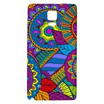 Pop Art Paisley Flowers Ornaments Multicolored Galaxy Note 4 Back Case Front
