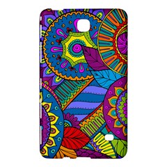 Pop Art Paisley Flowers Ornaments Multicolored Samsung Galaxy Tab 4 (7 ) Hardshell Case