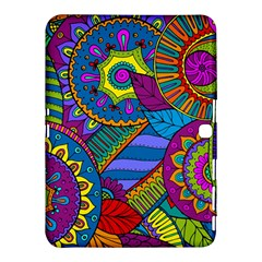 Pop Art Paisley Flowers Ornaments Multicolored Samsung Galaxy Tab 4 (10 1 ) Hardshell Case