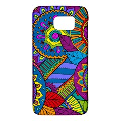 Pop Art Paisley Flowers Ornaments Multicolored Galaxy S6 by EDDArt