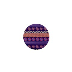 Colorful Winter Pattern 1  Mini Magnets by DanaeStudio
