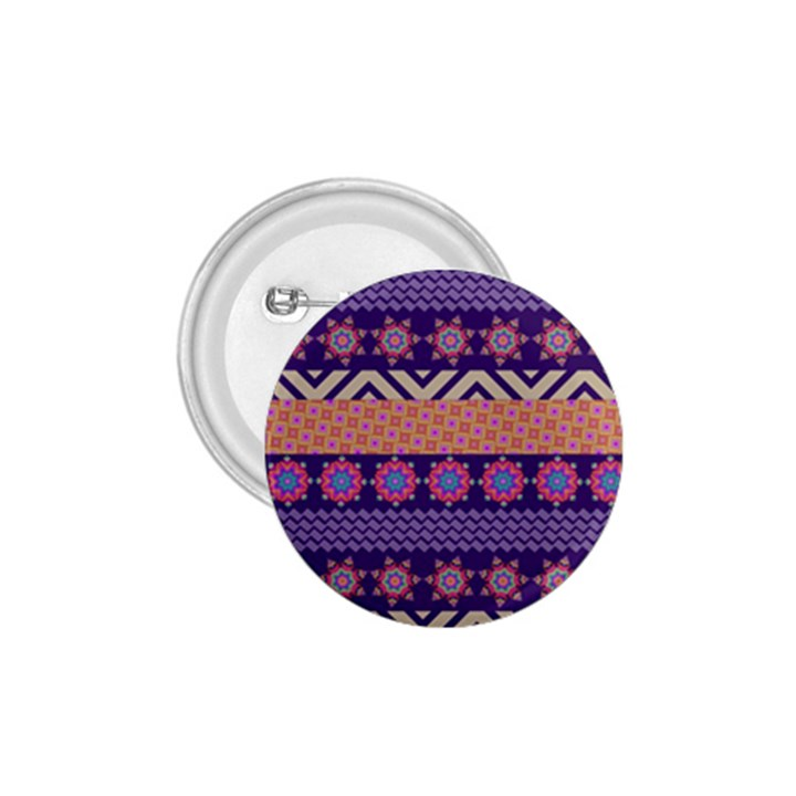Colorful Winter Pattern 1.75  Buttons