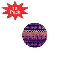 Colorful Winter Pattern 1  Mini Magnet (10 Pack)  by DanaeStudio