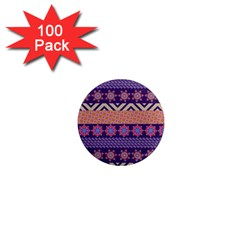 Colorful Winter Pattern 1  Mini Magnets (100 Pack)  by DanaeStudio