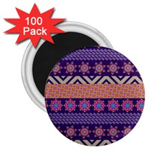 Colorful Winter Pattern 2 25  Magnets (100 Pack)