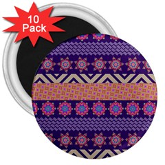 Colorful Winter Pattern 3  Magnets (10 Pack)  by DanaeStudio