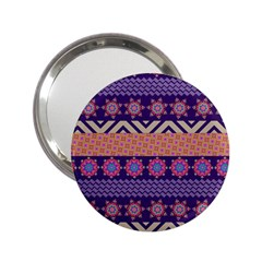 Colorful Winter Pattern 2 25  Handbag Mirrors by DanaeStudio