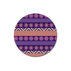 Colorful Winter Pattern Magnet 3  (round) by DanaeStudio