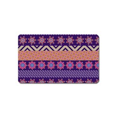 Colorful Winter Pattern Magnet (name Card) by DanaeStudio