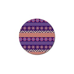 Colorful Winter Pattern Golf Ball Marker by DanaeStudio