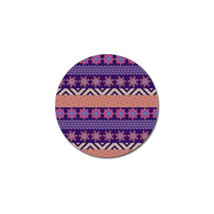 Colorful Winter Pattern Golf Ball Marker