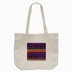 Colorful Winter Pattern Tote Bag (cream) by DanaeStudio