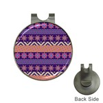 Colorful Winter Pattern Hat Clips with Golf Markers Front