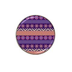 Colorful Winter Pattern Hat Clip Ball Marker (10 Pack) by DanaeStudio