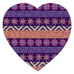 Colorful Winter Pattern Jigsaw Puzzle (Heart) Front
