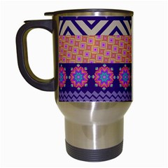 Colorful Winter Pattern Travel Mugs (white) by DanaeStudio