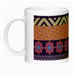 Colorful Winter Pattern Night Luminous Mugs Left