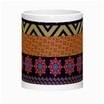 Colorful Winter Pattern Night Luminous Mugs Center