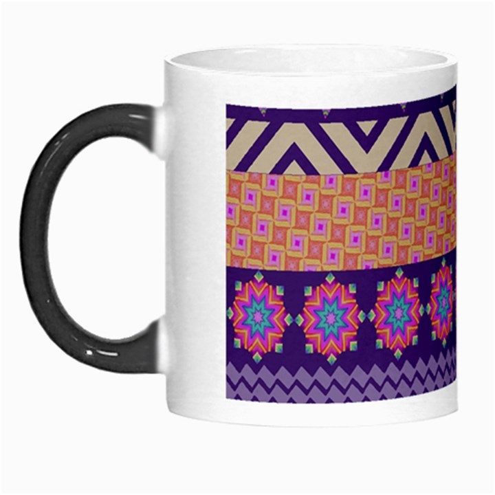 Colorful Winter Pattern Morph Mugs