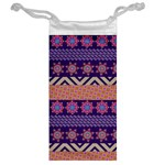 Colorful Winter Pattern Jewelry Bags Back