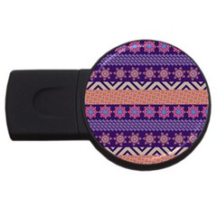 Colorful Winter Pattern Usb Flash Drive Round (4 Gb)  by DanaeStudio