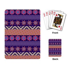 Colorful Winter Pattern Playing Card by DanaeStudio