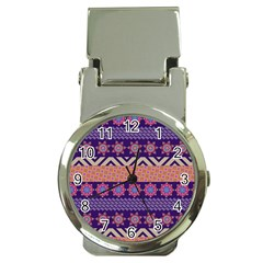 Colorful Winter Pattern Money Clip Watches by DanaeStudio