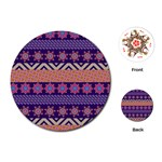 Colorful Winter Pattern Playing Cards (Round)  Front
