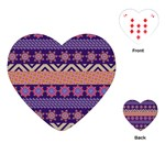 Colorful Winter Pattern Playing Cards (Heart)  Front