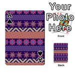 Colorful Winter Pattern Playing Cards 54 Designs  Front - SpadeA
