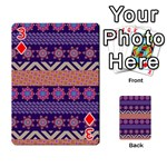 Colorful Winter Pattern Playing Cards 54 Designs  Front - Diamond3