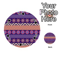 Colorful Winter Pattern Playing Cards 54 (round)  by DanaeStudio