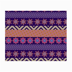 Colorful Winter Pattern Small Glasses Cloth (2 Side) by DanaeStudio