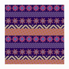 Colorful Winter Pattern Medium Glasses Cloth (2 Side) by DanaeStudio
