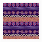 Colorful Winter Pattern Medium Glasses Cloth (2-Side) Front
