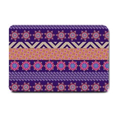Colorful Winter Pattern Small Doormat  by DanaeStudio