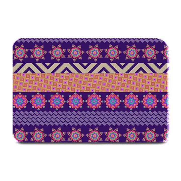 Colorful Winter Pattern Plate Mats