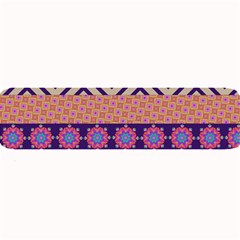 Colorful Winter Pattern Large Bar Mats by DanaeStudio