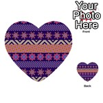 Colorful Winter Pattern Multi-purpose Cards (Heart)  Front 15